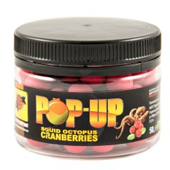 Бойлы Плавающие Pop-Ups Squid - Cranberry [Кальмар & Клюква], 10, 35, Pink/Розовый