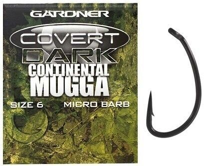 COVERT CONTINENTAL-MUGGA HOOKS BARBED SIZE 6 *NEW*